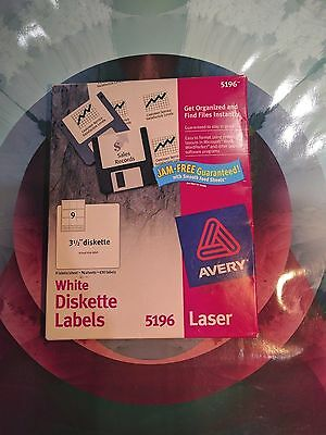"Avery 5196 Laser Diskette Labels 3.5"" Floppy Disk White 61 Sheets"