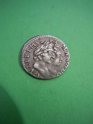 1691 William & Mary Maundy 2 Pence Silver Coin