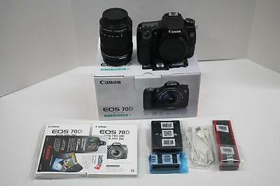 Canon EOS 70D 20.2 MP Digital SLR Camera - Black (Kit w/ EF-S IS STM 18-135mm)