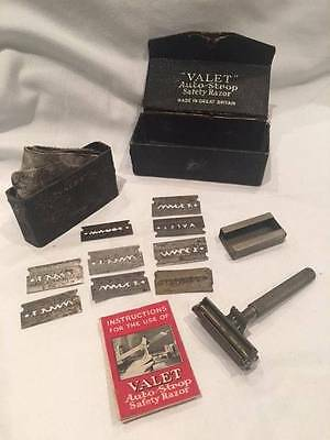 Antique/vintage Valet Auto-Strop safety razor British made from 1920s with case