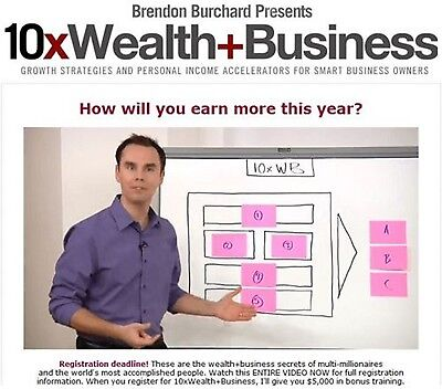 10x Wealth & Business by Brendon Burchard -video course-
