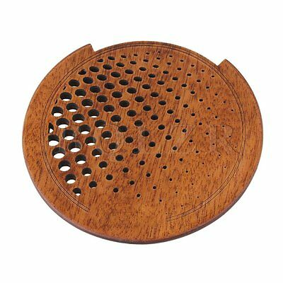 Brown BQLZR Needle Eye Type Sapele Soundhole Cover for 41 inch Folk Guitar