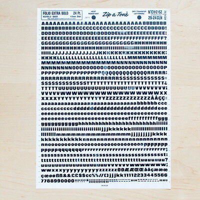 1 Sheet FOLIO 24pt Bold Letraset L166 Rub on Letters Dry Transfers Save Date