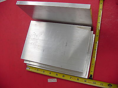 """4 Pieces 1/2"""" X 6"""" ALUMINUM 6061 FLAT BAR 9"""" long Solid T6511 Plate Mill Stock"""