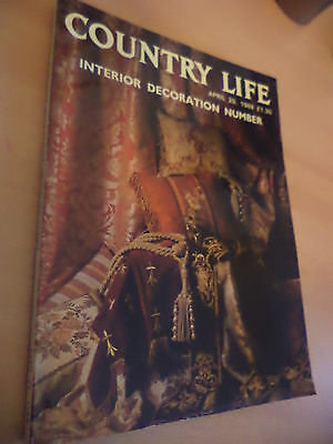 OLD VINTAGE 1980s COUNTRY LIFE MAGAZINE 20 april 1989 interior decoration number