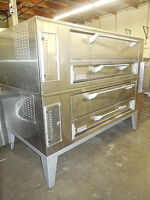 Used Marsal #660 - Double Deck Pizza Oven, Nat Gas.