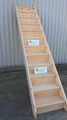 Staircase Straight Flight SOLID PINE INCLUDES VAT