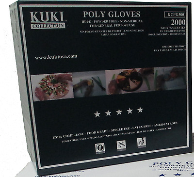 Poly Disposable Food Service Gloves - 2000 Gloves Case - Kuki Collection