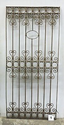 Antique Egyptian Architectural Wrought Iron Panel Grate (I-01)