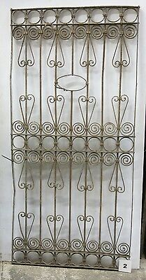 Antique Egyptian Architectural Wrought Iron Panel Grate (I-02)