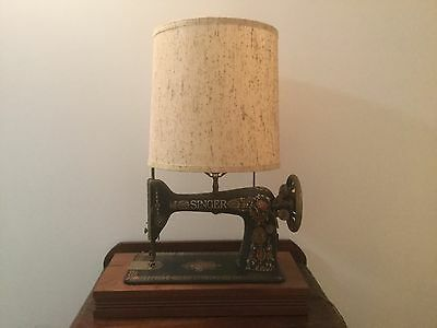 one of a kind decorative lamp crafted from a singer sewing machine