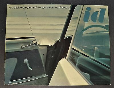 1965 Citroen ID 19 Catalog Brochure 8pg English Text Excellent Original 65