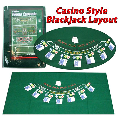 New Trademark Poker Blackjack Layout 36 X 72 Inch New High Quality Great Parties
