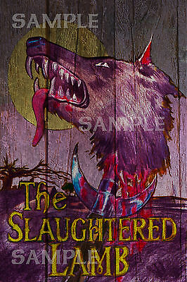 American Werewolf in London - The Slaughtered Lamb Pub sign Replica A3 Print