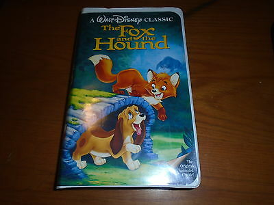Rare Black Diamond Fox And The Hound The Classics Disney Vhs 1994