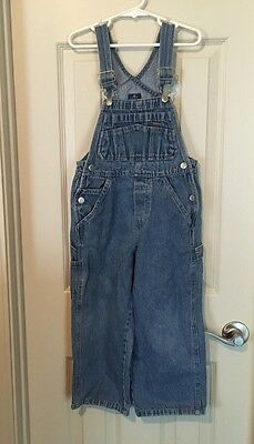 Youth Unisex Old Navy Denim Jeans Overalls Kids Farmer Bibs - Size 4/5     D
