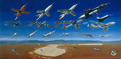 'Golden Age of Flight Test' [X-Planes] Artist Proof Signed Artist Mike Machat
