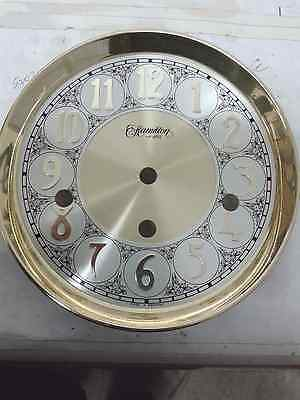 Hermle-Hamilton clock dial 165mm 3 chimes  for 1050-1051 movement