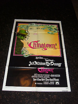 "CHINATOWN Original 1974 Movie Poster, 27"" x 41"", C8.5 Very Fine to Near Mint"