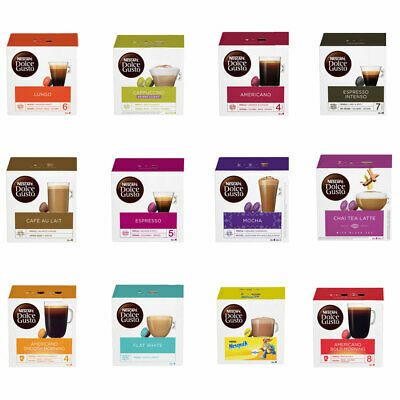 Nescafe Dolce Gusto Coffee Capsules Pods, 6 Boxes or More, Pick And Mix Yours