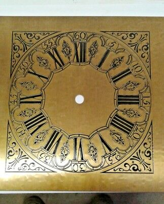 Square clock dial 200X200 mm solid brass antique style