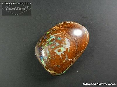 12 ct natural solid Queensland boulder matrix opale from Australia by Opal First