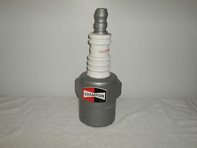 Vintage 1960's Champion Spark Counter Top Plug Store Display - 18 Inches Tall -