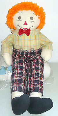 """Vintage Raggedy Andy Doll 25"""" Tall Doll Collectible With Cloth Forward Feet"""
