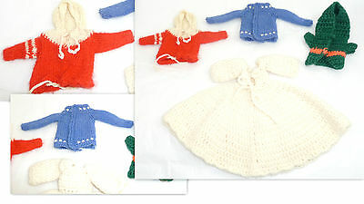 Knitted Vintage Barbie Clothings Hand Made     Bc4
