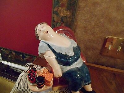 2002 Inclined Towards Dessert Cookie Jar Erika Oller Girls Love Sweets Silly Fun