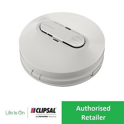 New CLIPSAL 755PSMA4 240V Smoke Alarm Photoelectric AS3786:2014 w/ Battery Back