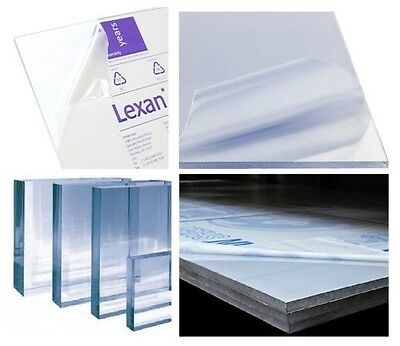 "POLYCARBONATE LEXAN CLEAR PLASTIC SHEET 1//4/"" X 23.88/"" X 48/"" VACUUM FORMING"
