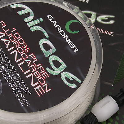 Gardner Tackle Mirage Flurocarbon Mainline 100m 200m 600m Carp Coarse Fishing