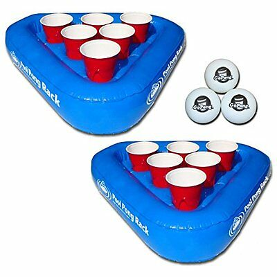 Swimming Pool Inflatable Beer Pong Game/Floating Table Gopong US SELLER New