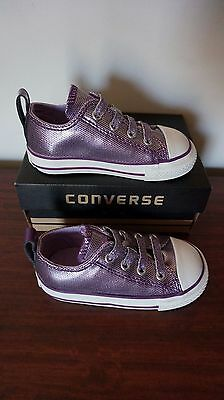 CONVERSE Girl's shoes, purple, New, size US6