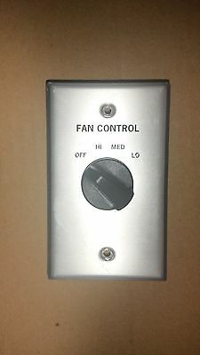 3 Speed Rotary Fan Switch With Cover/knob