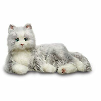 Cats Hasbros Lifelike Joy for All Companion Cat Silver/White Allergy Free Pet