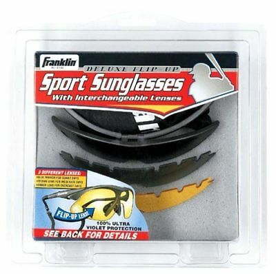 Franklin Sports MLB Baseball Softball Deluxe 3 Lens Flip Up UV Sunglasses 2752