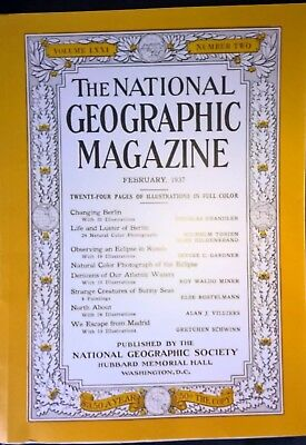 National Geographic Feb 1937 Hitler & National Socialist Berlin 50 page article