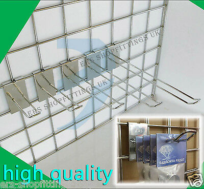 "Grid Wall Mesh Euro Hook Arm 4"" 6"" 8"" 10"" 12"" Shop Dispaly Clothes Hanger"