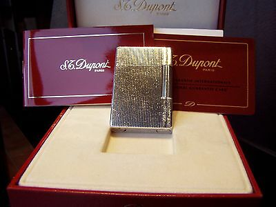 S.T.DUPONT  L.2  GATSBY-SILBER   Plague Argent G  56x37x11mm in OVP
