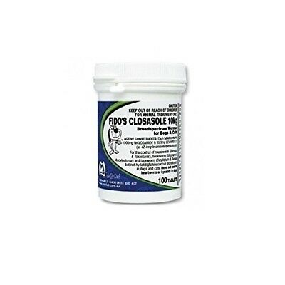 Fidos Closasole All Wormer Tablets 100 pack for Dogs & Cats Fidos