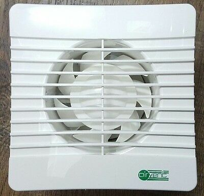 """Airvent Extractor Fan 4"""" Timer for WC Toilet Bathroom 100mm Low Profile Slim"""