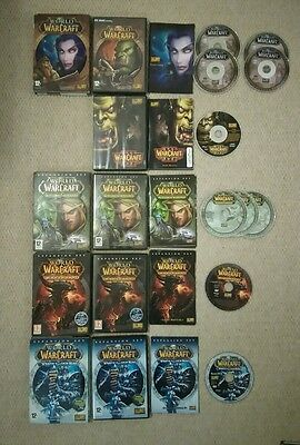 Job Lot X 5 World Of Warcraft Pc/dvd Games