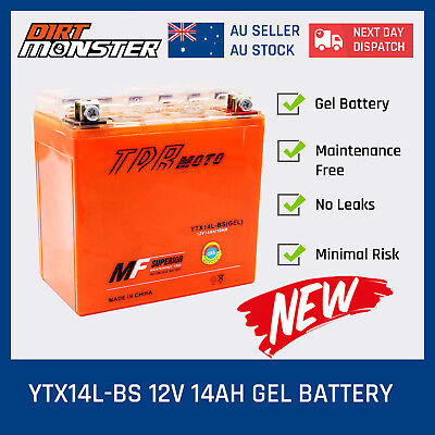 GEL 12V 14AH  Motocycle Motorbike Replace YTX14L-BS CTX14LBS YTX14LBS BATTERY