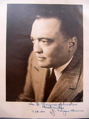 John Edgar Hoover : First Director of FBI -  UNITED STATES - SIGNED PHOTO