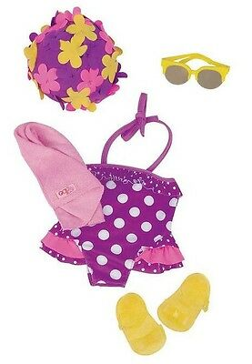 """Our Generation RETRO SWEETIE swimsuit Set for 18"""" doll NEW in box NIB"""