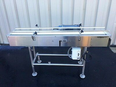 """Nercon 6"""" Wide x 60"""" Long Stainless Steel Conveyor"""