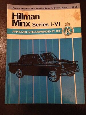 Hillman Minx Series I-Vi  Pearson's Car Servicing Series 1971 Book Manual
