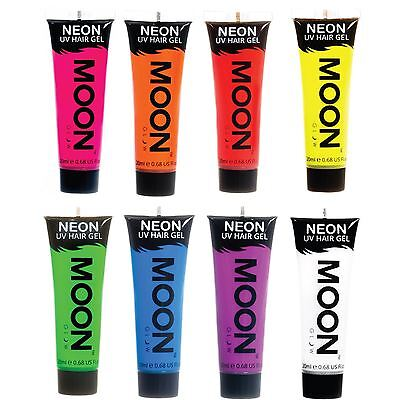 Moon Glow 20ml Neon UV Hair Gel - Choose from 8 Temporary Wash-out Hair Colours
